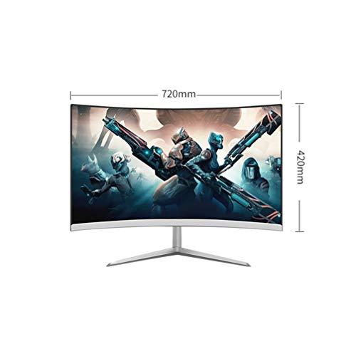 Monitor sin marco de 32 pulgadas de pantalla ancha para juegos curvos | 1080P 75Hz 16: 9 | pantalla de la computadora 2800R, para el hogar y la oficina, inclinación y altura de pivote ajustable (Displ