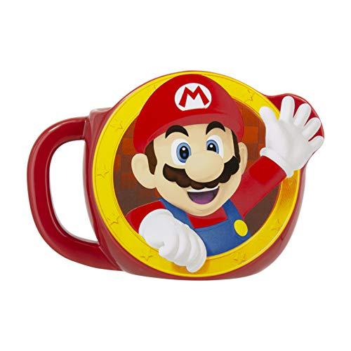 Paladone PP5102NN Super Mario Mok | Nieuwigheid Oversized Koffie Keramische Beker | Unieke & Super Leuke manier van het drinken van uw favoriete drankje, 600 milliliter