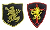Antrix 2 Pcs Navy Seal Team Trident Lion Cross Crusader Shield Tactical Military Tag Applique Insignia Emblems Badges 3D Embroidered Patch with Loops and Hook Back -Navy Seal