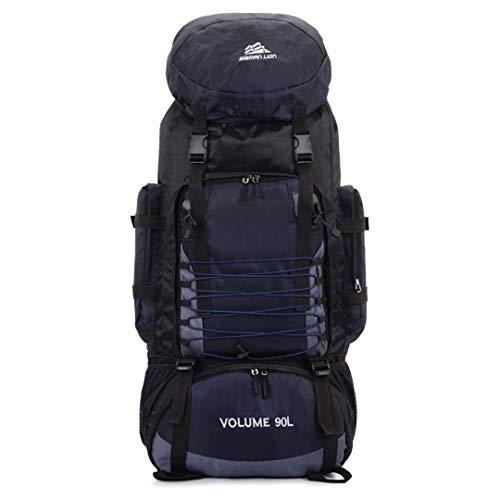 RatenKont 90L Backpacks Army Hiking Trekking Travel Mountaineer Backpack Capacity Sport Outdoor Climbing Bag Dark blue