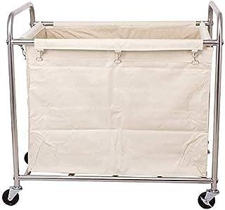 Panier à linge - Panier à linge avec roulettes - Chariot de service pour hôtel - Avec sacs amovibles - Capacité de 200 kg...