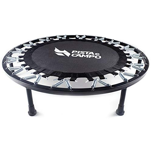 Mini cama elástica de ginástica jump trampolim 32 molas de aço Pista e Campo