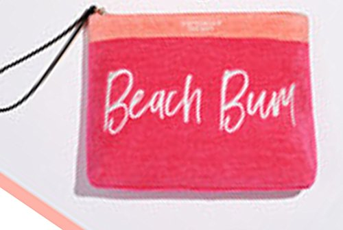 Victoria's Secret Terry Cloth Cosmetic Bag Pink Beach Bum