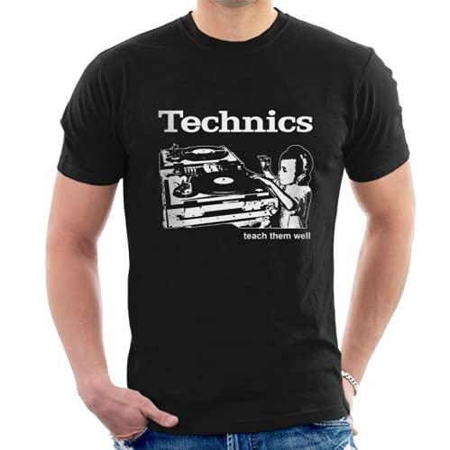 Technics T-Shirt Funny Birthday Cotton tee Vintage Gift For Men Women Black XXL