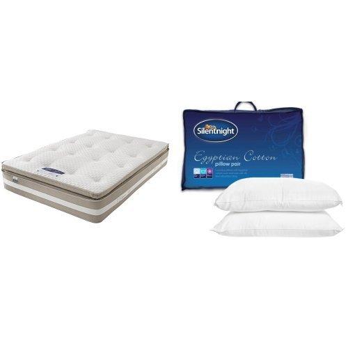 Silentnight 1850 Pocket Geltex Mattress with Pair of Egyptian Cotton Pillows - King