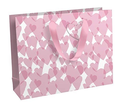Clairefontaine 27057-6C - Un sac cadeau shopping 37,3x11,8x27,5 cm 210g, Love
