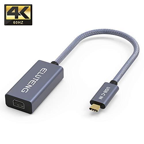 ELUTENG USB C auf Mini Displayport Adapter 4K@60Hz MiniDPKabel Audio und Video Braided Kabel kompatibel mit ChromeBook Pixel usw.(Thunderbolt kompatibel Nicht.