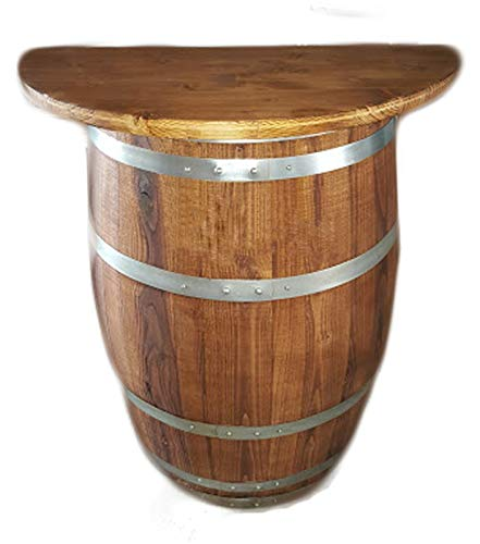 Elimostore Media barril barril madera 83 cm con estante 60 cm