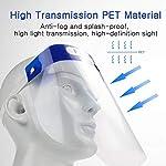 SGODDE 10 Pcs Pantalla Protección Facial Transparente, Protector Facial de Seguridad, Viseras de Seg... #6