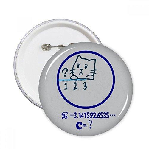 DIYthinker Circle wiskunde probleem kat illustratie ronde pinnen badge knop kleding decoratie 5 stks gift XXL Multi kleuren