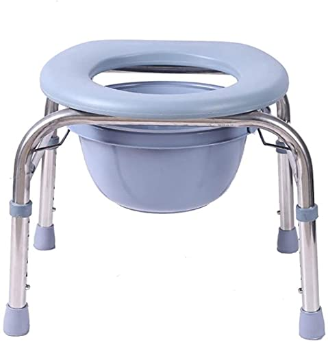 OUWTE Household Deluxe Foldable Toilet Chair with Footrests - Adjustable Height Bath Chair Toilet Seat Commode Chair - The Best Gift for Parents