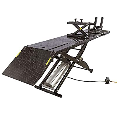Black Widow BW-1000A-XL Extra-Long Motorcycle Lift Table with Center Jack by Black Widow