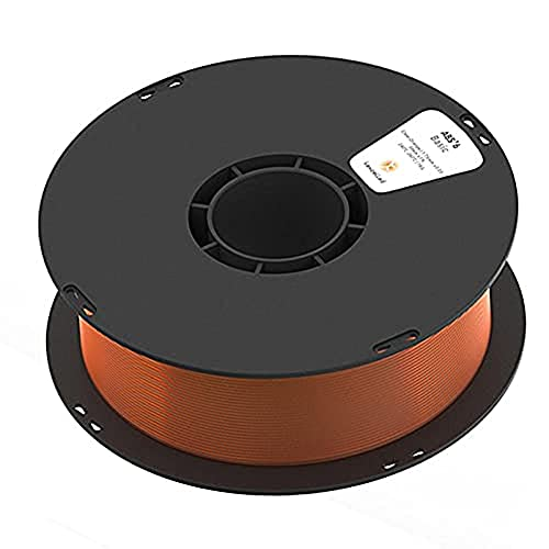 3D Printer Filament,3D Printer Consumables, ABS K5T Filament, Transparent, High Light Transmittance, 1.75Mm, 1Kg (2.2Lb) Spool,Transparent Orange