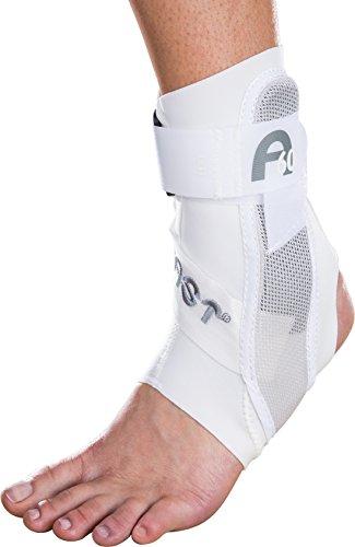 Aircast A60 Tobillera Blanca de Protección en Neopreno con Estabilizadores - Soporte Izquierdo Talla Mediana - Para Recuperación Lesiones Esguinces y Síntomas Túnel Tarso