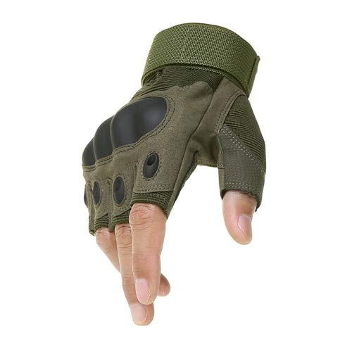 Guantes al Aire Libre Guantes Deportivos Medio Dedo Tipo Guantes para Hombres-a3-XL