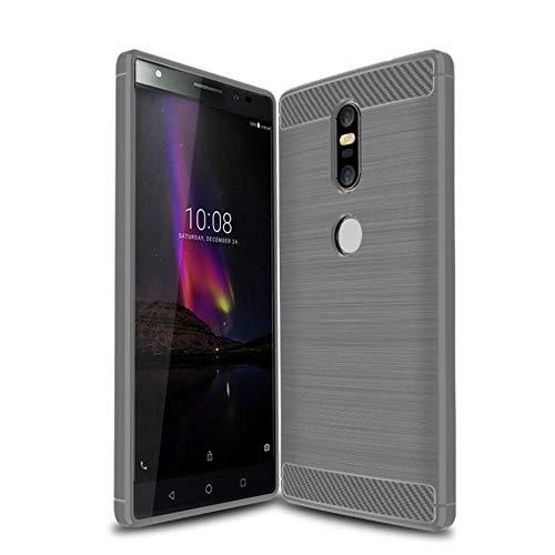 König Design Handy-Hülle kompatibel mit Lenovo Phab2 Plus Silikon Hülle Hülle Sturzsichere Back-Cover Handyhülle - Carbon - Grau