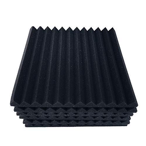 Akustikschaumstoff Wand, 12 Akkustik Platten, Schallabsorptionsschwamm Wand Akustikschaum Cotton, Dämmung Wanddeko Pyramiden Noppenschaumstoff Breitbandabsorber Decke Foam Feuerhemmend