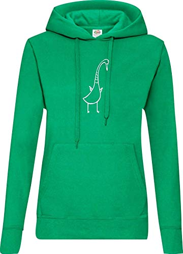 Shirtinstyle Femme à Capuche Schwan Canard Totalement - Kelly, XL