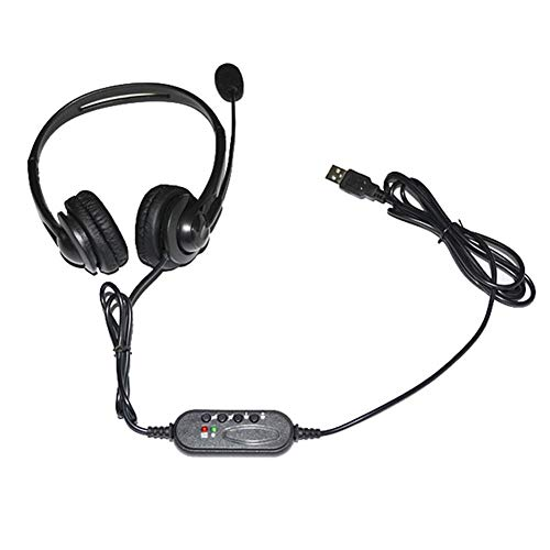 Great Features Of Computer Headset with Microphone USB Traffic Headset USB Port Noise (1.8M/70.87in)