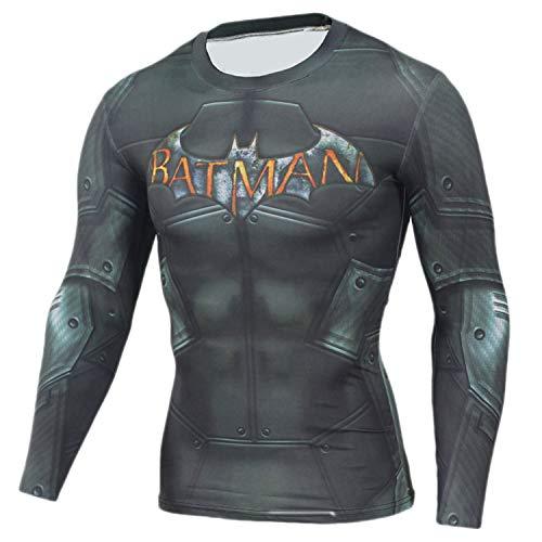 JACK CORDEE - Maglietta a compressione da uomo, per attività all'aria aperta, per allenamento e corsa, alla moda, a maniche lunghe, colore grigio, taglia S
