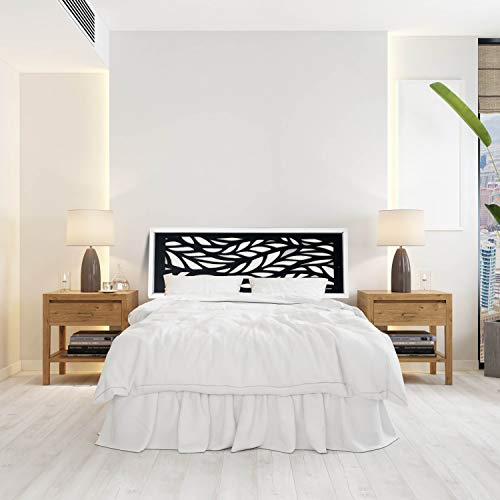 Tête en bois massif | 10 modèles différents | 6 Mesures | Placement facile | Tête de lit décorative pour lit. Matériel d'ancrage inclus