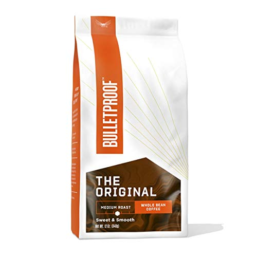 The Original Whole Bean Coffee, Medium Roast, 12 Oz, Bulletproof Keto Friendly 100% Arabica Coffee, Certified Clean Coffee, Rainforest Alliance, Sourced from Guatemala, Colombia & Brazil