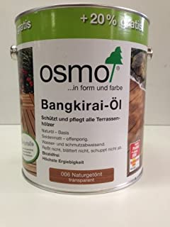 Osmo Bangkirai-Öl Natur 006 3,0L Holz-Spezial-Öl, seidenmatt für außen AKTION