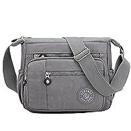 Womens Multi Pocket Casual Cross Body Bag Travel Bag Messenger Handbag for Shopping Hiking Daily Use...