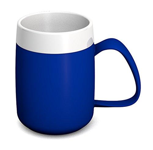 Ornamin Thermobecher 260 ml blau (Modell 206) / Isolierbecher, doppelwandiger Kaffeebecher Kunststoff