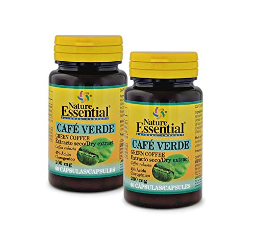 Café verde 200 mg. (ext. seco 45% ácido clorogénico) 60 cápsulas (Pack 2 unid.)