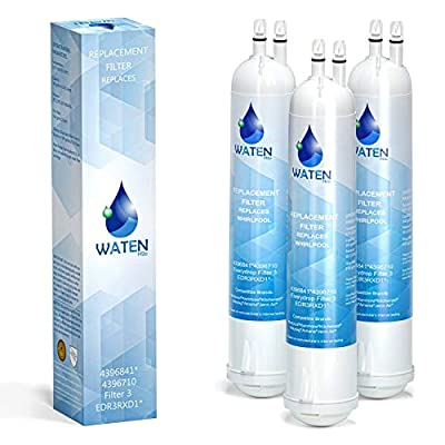 WATEN H2O 4396841 EDR3RXD1 Water Filter Replacement, Compatible with 4396710 Refrigerator Cap Water Filter 3 Kenmore 9030, 9083 3-Packs