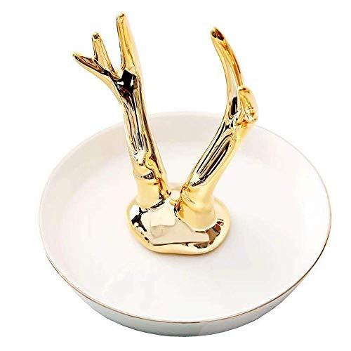 Soporte de exhibición de joyería Soporte de anillo Plato para joyería Collar Soporte de pulsera Organizador Exhibición Cumpleaños Ceremonia de boda Decoración del hogar Cajas de exhibición de joy