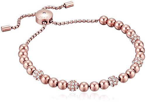 Michael Kors Blush Rush Rose Gold-Tone Bead Bangle Bracelet