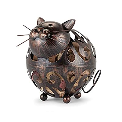 Cute Metal Cat Wine Cork Container