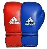adidas AIBA Approved Competition Boxing Gloves Guantes de Boxeo de competición, Unisex Adulto, Rojo, 340 g
