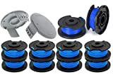 """Karen One + AC14RL3A String Trimmer, for Ryobi 18V 24V 40V Replacement Spool Line 0.065"""",Weed Eater String Autofeed 522994001 Cap, Cordless Trimmer Line 11ft, (10 Spools + 2 Caps)"""