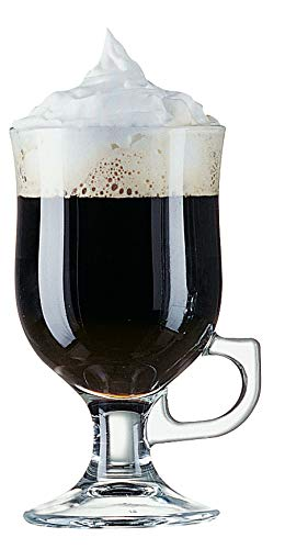 Arcoroc ARC 37684 Irish Coffee Kaffeeglas mit Henkel, 240ml, Glas, transparent, 6 Stück