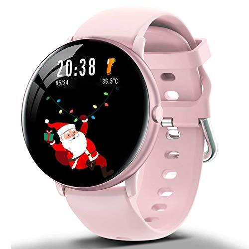 DOOK Smartwatch,Fitness Watch Uhr Voller Touch Screen IP67 Wasserdicht Fitness Tracker Sportuhr mit Schrittzähler Pulsuhren Stoppuhr für smartwatch Damen Herren für iOS Android,Rosa