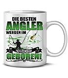 Golebros Geburtstagsgeschenk Tasse Die Beesten Angler Werden im November geboren 6220 Angel Papa...