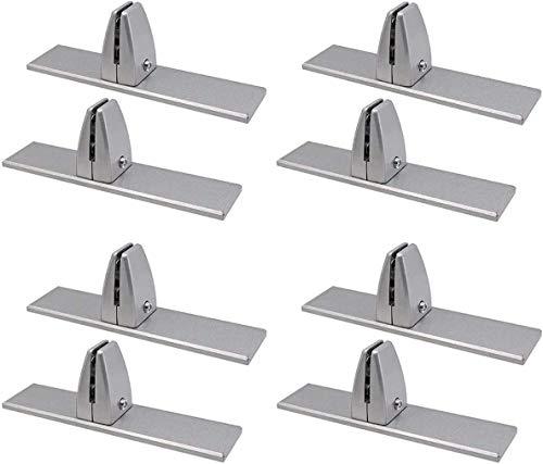 Sneeze Guard Stand Screen Brackets T Shape Aluminum Alloy Handrail Office Desktop Screen Fixing Clip Partition Clip Glass Clamps (8)