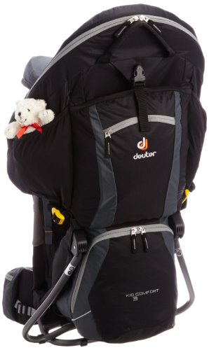 Deuter Kid Comfort III Mochila, Unisex adultos, Negro (Black/Granite)