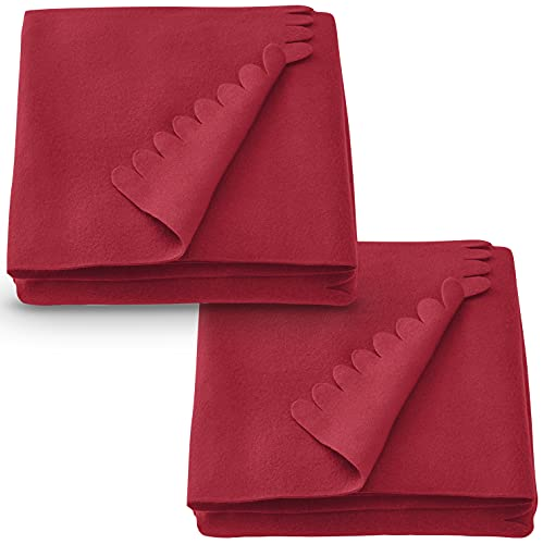 Ikea Polarvive - Manta para sofá (130 x 170 cm), color rojo