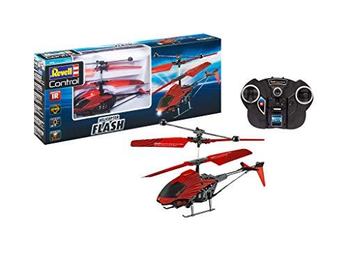 Revell 23814 RC Helikopter mit Fernbedienung Flash, Gyro, 2-Kanal IR-Fernsteuerung, Indoor-Flugmodell, einfach zu fliegen Zubehör, Rot/Schwarz
