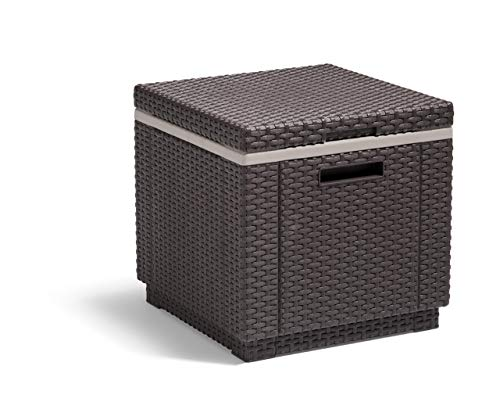 Curver Ice Cube Mesa nevera para jardín, 5 litros, Marrón, 41x41x41 cm