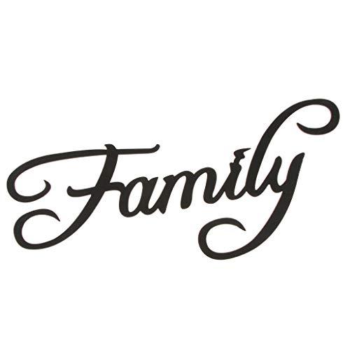 P Prettyia Retro \'\' Familie \'\' Holzschild Wanddeko Wandaufkleber Ornament, Aushöhler Design