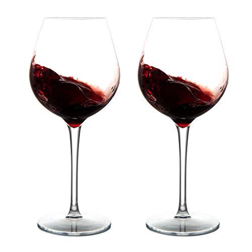 MICHLEY Unzerbrechlich Tritan-Kunststoff weingläser, rotwein trinkglas, gläser fur Camping Party, BPA-frei 500 ml plastik Tasse, 2er Set
