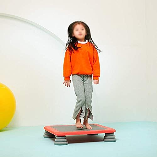 FGVBC Kindertrampolin Trainer Heimgebrauch Indoor Kinderhüpfburg Babytrampolin Klein 65X65cm,Orange
