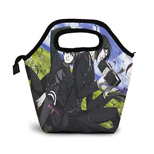 Lunch-Tasche,Black Butler Anime Lunchbox, Hochwertige Tragetaschen Für Kinder Schule Im Freien,30x30x12.8cm