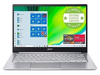 Acer Swift 3 Light Laptop 14  FHD IPS AMD Ryzen 7 4700U Octa-Core Processor with Radeon Graphics 8GB LPDDR4 512GB NVMe SSD WiFi 6 Backlit Keyboard Fingerprint Reader SF314-42-R9YN  Renewed