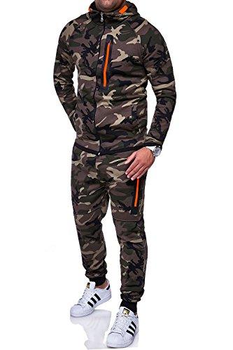 MT Styles Trainingsanzug Harlem Sporthose TR-5037 [Khaki, L]